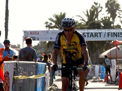 Kalon at the finish line