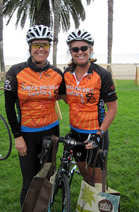Participants who finished the metric century (beautiful SB century jerseys, bag from Whole Foods and a big smile). Congrats! http://www.ragecycling.com/nopcommerce/Products/102-santa-barbara-century-jersey.aspx