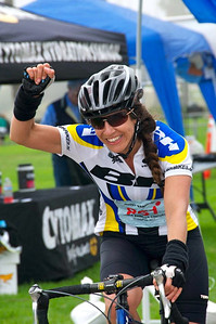 Jenny at the finish line (photo taken by Daniel Girard)