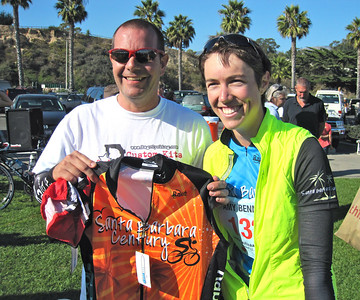 Winner of the time trail (Gibraltar climb) for women age 39 and under: 56:56.5  http://www.santabarbaracentury.org/finalagegroup.htm  A SB Century donated by Rage Cycling: http://www.ragecycling.com/