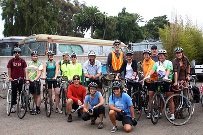 Group photo at the start of the ride