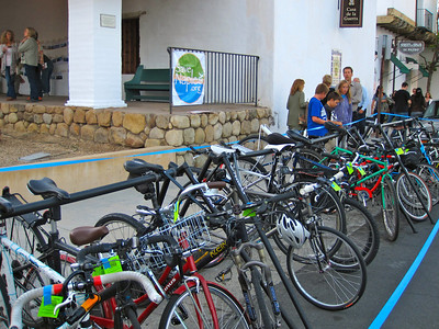 Bike Valet for Save Naples event (Casa de la Guerra)