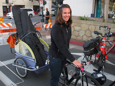 Piper carrying some bike racks