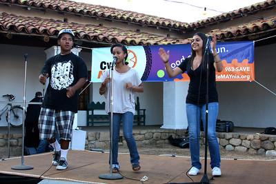 "Santos, Summer & Karina) singing ""Ride Differently""  Video: http://vimeo.com/24054737"