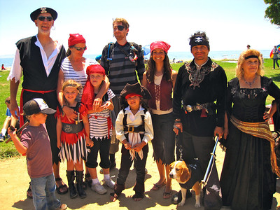 Costume contest at Goleta Beach (photo taken by Christine)
