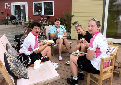 Group who rode from Santa Barbara