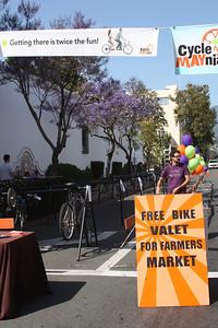 Bike valet is ready