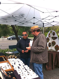 Robert selling jewelry