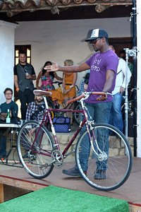 Maurice Sanders with a cool Bici Centro T-shirt