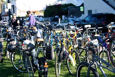 Bike valet is packed