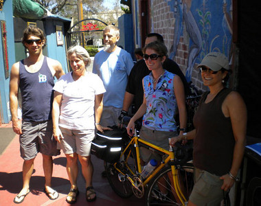 Campers meet at Bici Centro