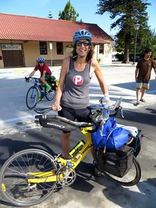 Daniela & her cool bike