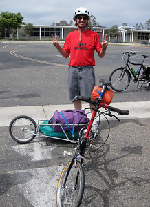 Foling bike with trailer