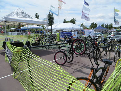 Bike valet at Brew Fest in Buellton