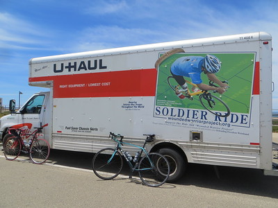 20 ft U-Haul truck to carry 25 bikes