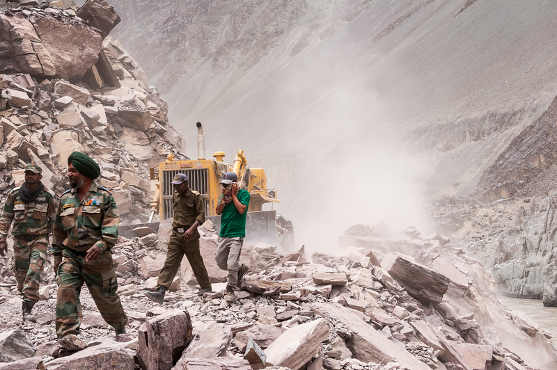 Road widening along the Zanskar Valley