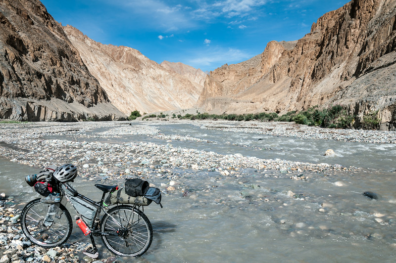 Crossing the Markha River - again!