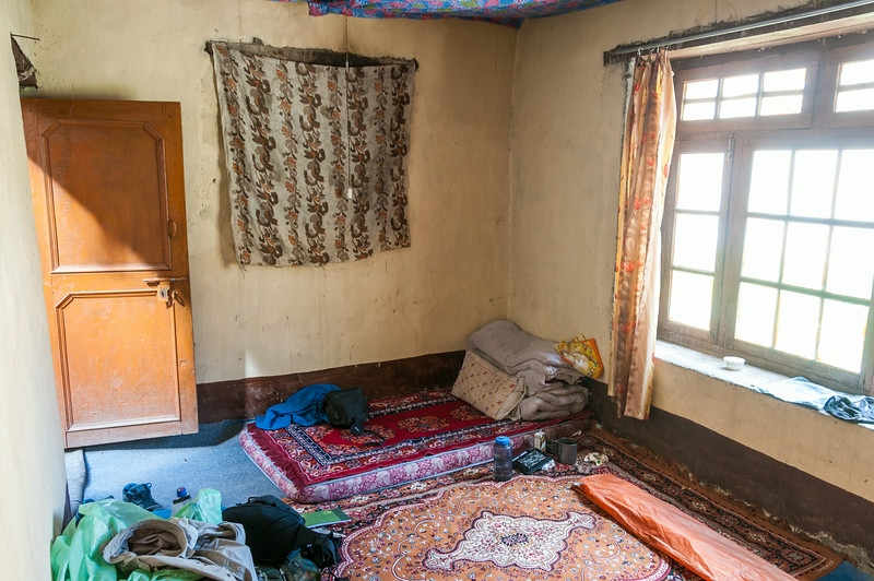Homestay bedroom in Markha