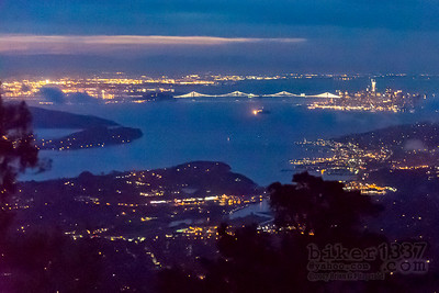 Pre-dawn San Francisco from Mt Tam