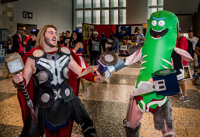 Pickle Rick and Thor