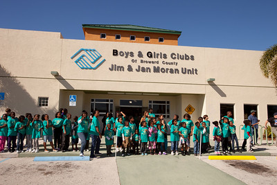 Bikers at the Jim & Jan Moran Boys and Girls Club