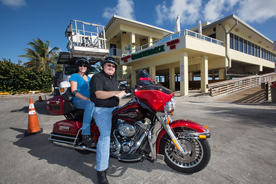 Bikers Bash Bikers at the Dania Beach Pier Quarterdeck