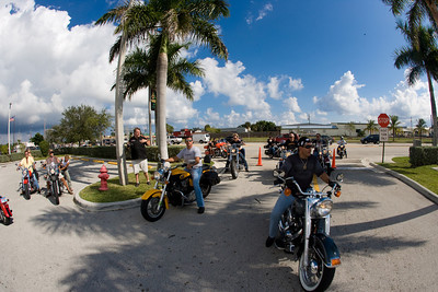 Bikers at the Jim & Jan Moran Boys and Girls Club