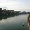 Rhine with ferris wheel