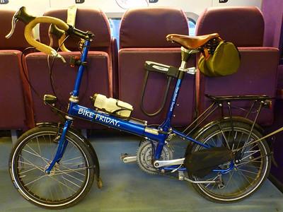 Bike Friday in the bike compartment