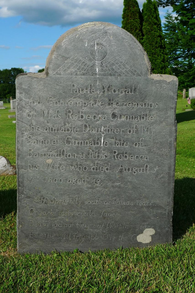 Rebecca Cunnable's tombstone