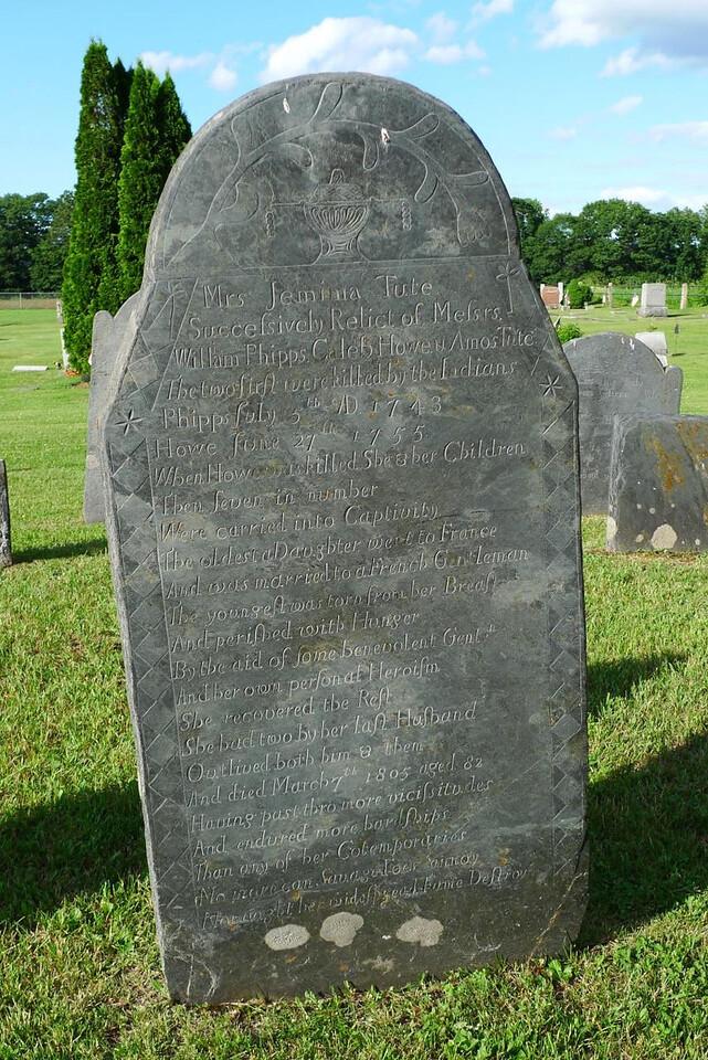 Jemima Tute's tombstone