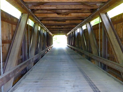 In the covered bridge