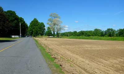 Freshly plowed field along the Connecticut River