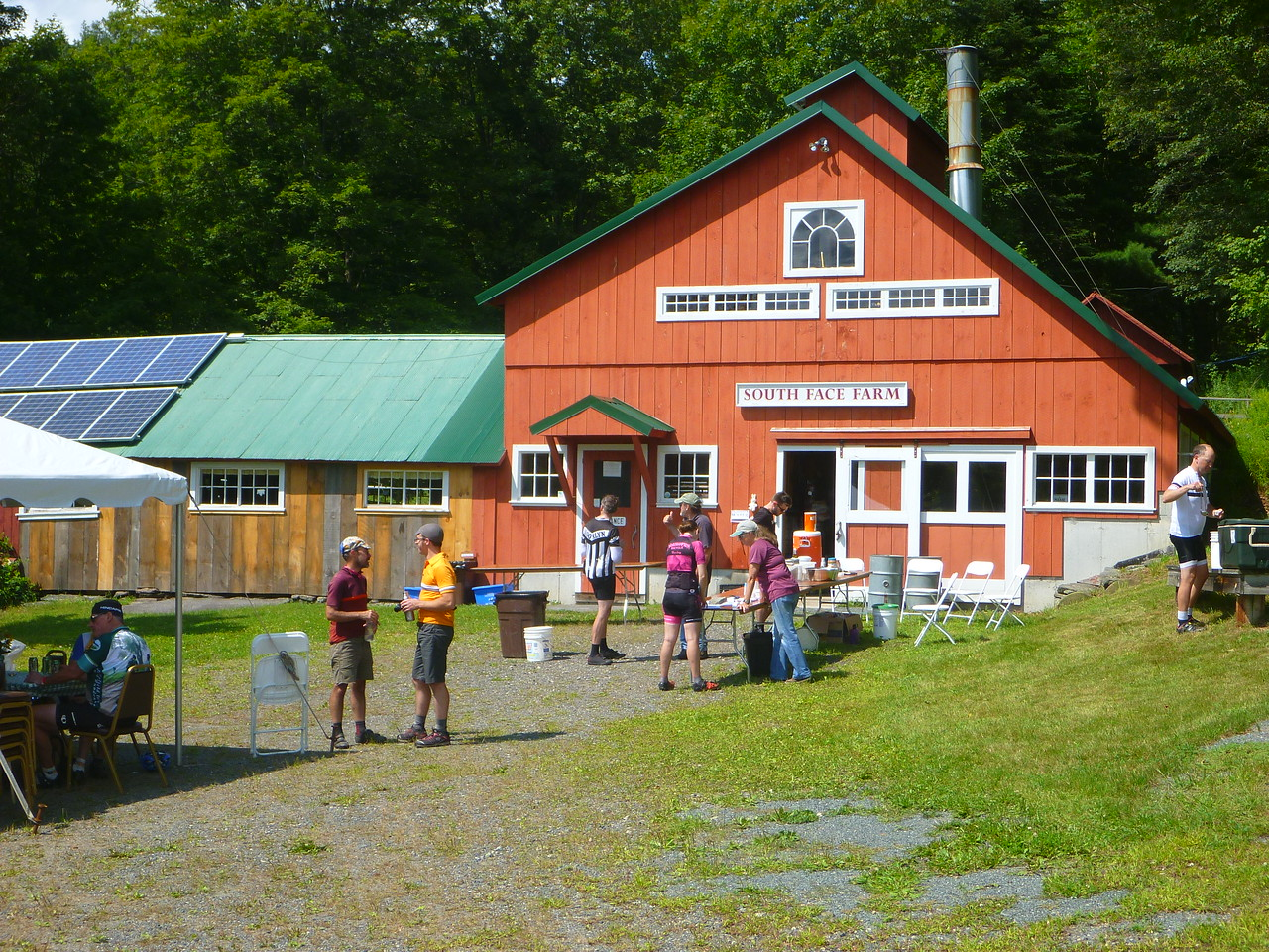 Lunch at South Face Farm
