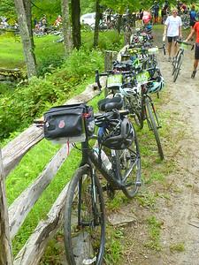 Bikes near the lunch spot