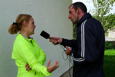 Jennifer being interviewed by Paul White