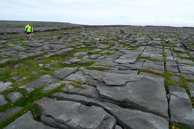 Limestone pavement outside the Black Fort