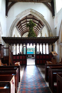 Nave, chancel, and screen
