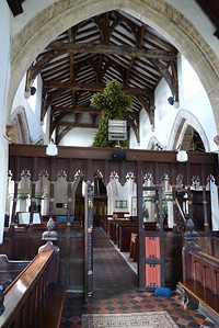 Chancel, rood screen, and nave
