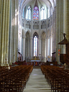 Nave and choir, Meaux cathedral