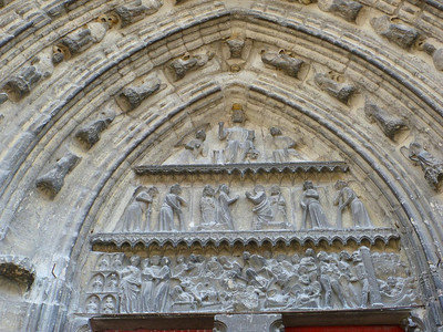 Central portal, Meaux cathedral