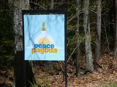 Peace Pagoda sign