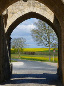 Looking through the Jouy Gate