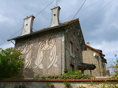 Art Nouveau house in Faremoutiers