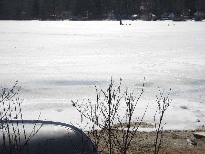 Ice fishing on Lake Wyola