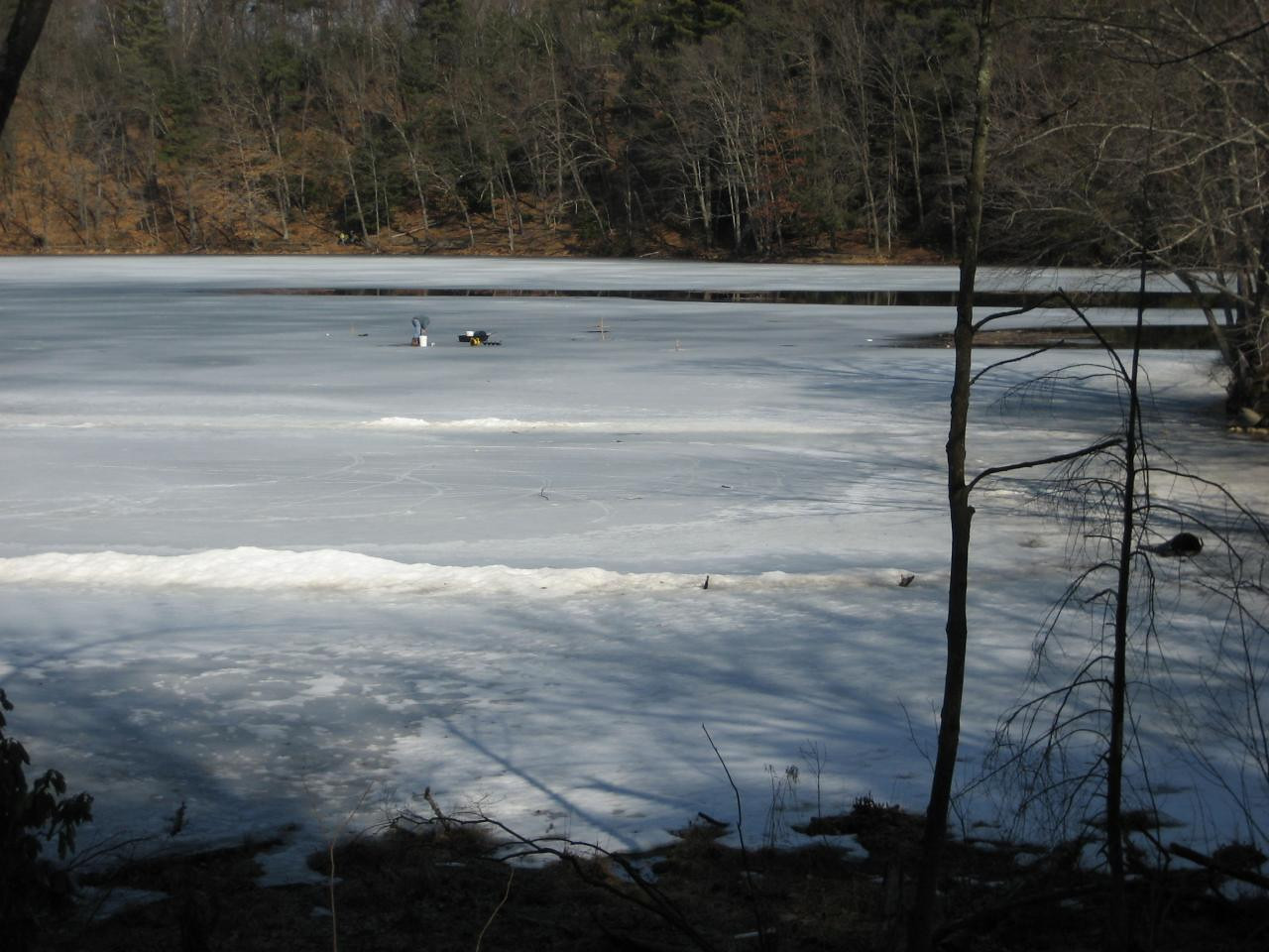 Ice fishing on Puffer's Pond