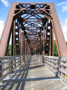 Rail trail bridge