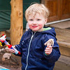<b>27 April 2014</b> Savaging a chicken drumstick outside the yurt