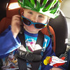 "<b>28 April 2014</b> ""Look, I wear Mama's helmet!"""
