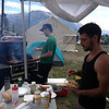 Andy and Max, brewing up wonders in the BBQ zone